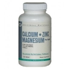 Витамины и минералы Calcium Zinc Magnezium plus copper 100 таб. Universal от Universal Nutrition